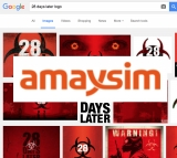 Screen grab of Google image search for 28 days movie logo with Amaysim logo super-imposed