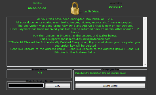 New strain of Philadelphia ransomware.