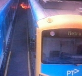 Capacitor on fire in Siemens train
