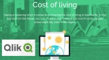 Visual analytics compares cost of living in APAC with just a Qlik