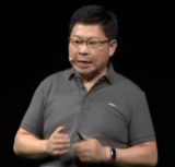 Richard Yu addressing the Huawei developers' conference in Dongguan on Thursday.