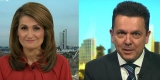 Patricia Karvelas and Nick Xenophon during Monday's interview.