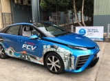 The Toyota Mirai fuel cell vehicle, ready to be fuelled with CSIRO-produced hydrogen.