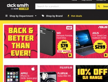 Kogan relaunches Dick Smith online store from today!