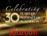 30iGala, the 30th Anniversary of the Internet in Australia event on tonight