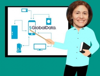 Kathryn Weldon, Technology Research Director at data and analytics company GlobalData, added by me to a Pixabay 5G image