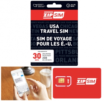 US ZIP SIM - first self-activating, private prepaid SIM that lets you change numbers twice
