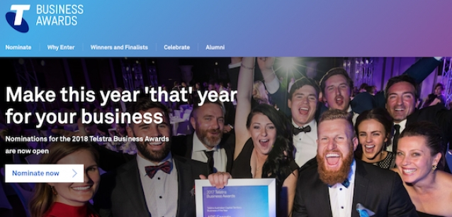 2018 Telstra Business Awards nominations now open, so nominate!
