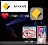CommBank app launches iPhone X Face ID secure access too, no Apple Pay