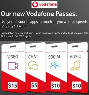 Vodafone's Red plans add unlimited streaming options from $5 to $15 per month
