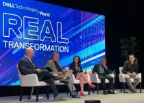 L-R: Futurum Research principal analyst Daniel Newman, Dell Technologies senior vice president Bryan Jones, Intel vice president and general manager Caroline Chan, VMware executive vice president and general manager Shekar Ayyar, and Pivotal senior vice president James Watters