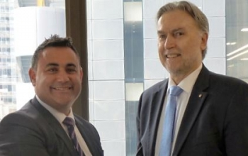 NSW Minister for Skills John Barilaro and ASCF Executive Director John Ridge