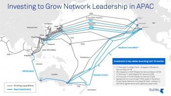 Telstra boosts capacity to subsea cable network
