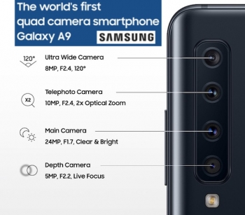 VIDEOS: Samsung launches Galaxy A9, world's first phone with four cameras on the back