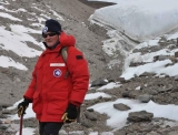 ANSTO's Dr Andrew Smith on the ice in a previous Antarctic expedition