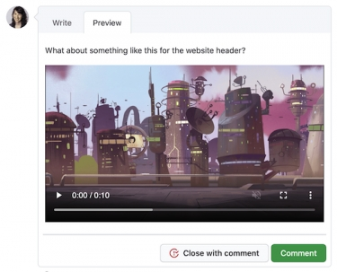 GitHub now allows video uploads in issues, pull requests, discussions and more