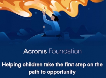 Back up there for a second – Acronis has a new foundation to build schools?