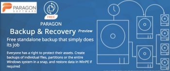 Paragon releases 'Backup & Recovery Free' for Windows PCs
