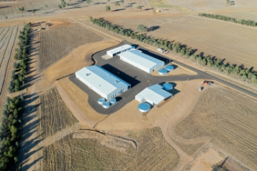 Purpose-built workshops and storage facilities at Boorowa Agricultural Research Station.