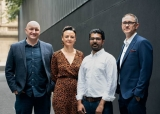 Left to Right: Cameron Walker, Zoe Freeman (Sitecore Alliance Manager), Rameez Akram, Troy Outtram