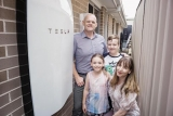 Pfitzner family and their Tesla battery system