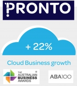 Pronto Software ABA100 Winner for Cloud Innovation