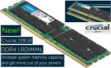 Highest density 128GB DDR4 LRDIMM memory Crucial for servers