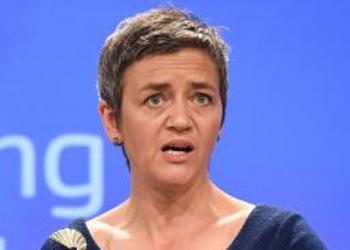 "EU competition commissioner Margrethe Vestager: ""Google has cemented its dominance in online search adverts and shielded itself from competitive pressure by imposing anti-competitive contractual restrictions on third-party websites."""
