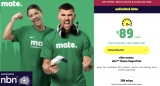 NBN provider MATE offers 250Mbps plan for $89 per month for first six months, then $109 per month