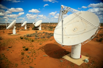 The CSIRO's Australian Square Kilometre Array Pathfinder radio telescope, located at CSIRO's Murchison Radio-astronomy Observatory in Western Australia.