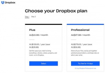 Dropbox increases storage quotas