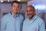 Professor Dragomir Neshev and his colleague, Professor Chennupati Jagadish, from the ANU Research School of Physics.