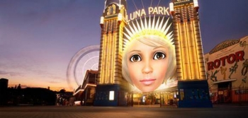 Samsung to change iconic Luna Park face for Vivid Sydney