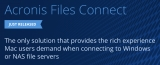 Acronis Files Connect solves NAS and Windows file-sharing problems for Mac users