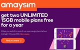 Amaysim offers two free mobile plans for a year if you switch to one of its energy plans