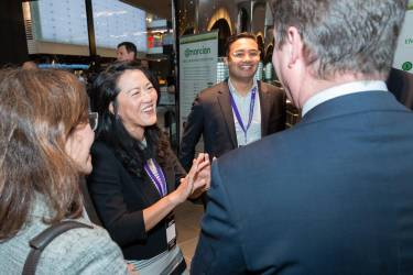 A networking session after last year's event in Melbourne