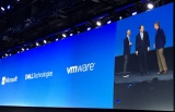 Microsoft CEO Satya Nadella, Dell Technologies chairman and CEO Michael Dell, and VMware CEO Pat Gelsinger