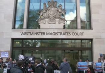 The court where Julian Assange's extradition hearing took place on Thursday.