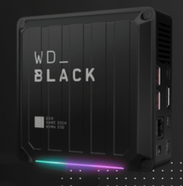The WD_BLACK D50 Game Dock NVMe SSD.
