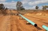 Early stage of Atlas gas pipeline construction