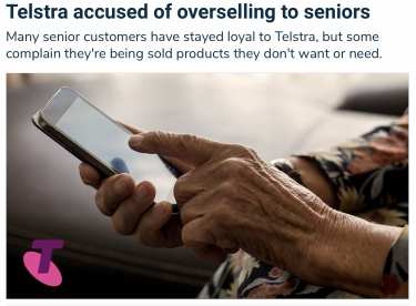 Telstra accused of over-selling to seniors
