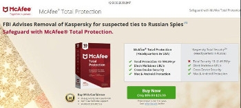 McAfee attempting to capitalise on Kaspersky ban
