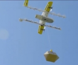 Drone delivery being tested in the US state of Virginia in June.