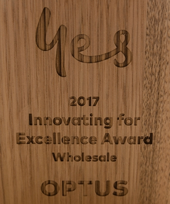 Optus Innovating for Excellence Award 2017 goes to Over the Wire