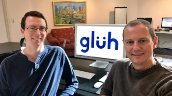 Lorenzo Coppa (right) and Andrew Rauber (left), co-founders of glüh, which provides a revolutionary end-to- end IT ordering, quoting and procurement system for MSPs