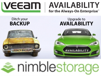 Veeam expands storage integration in upcoming version 9.5 to include Nimble Storage