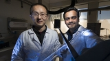 ANU researchers Associate Professor Larry Lu and Dr Ankur Sharma